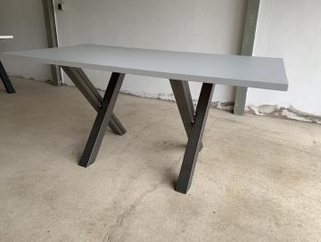Tisch grau 160x80x3